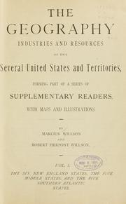 Cover of: The geography, industries and resources of the several United States and territories