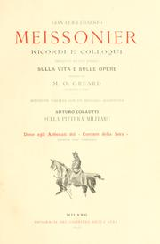 Cover of: Gian-Luigi-Ernesto Meissonier