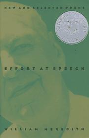 Cover of: Effort at speech