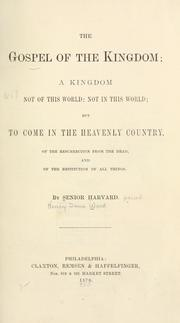Cover of: The gospel of the Kingdom