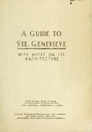 A guide to Ste. Genevieve