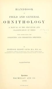 Cover of: Handbook of field and general ornithology