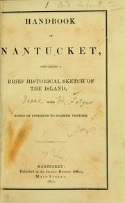 Cover of: Handbook of Nantucket by Isaac H. Folger