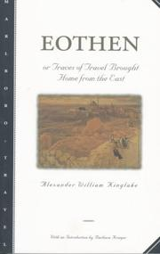 Cover of: Eothen