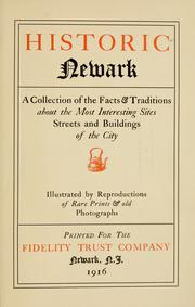 Cover of: Historic Newark |