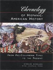 Cover of: Chronology of Hispanic-American history