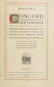 Cover of: History of Concord, New Hampshire | Concord (N.H.). City History Commission.