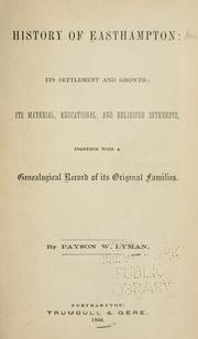 Cover of: History of Easthampton