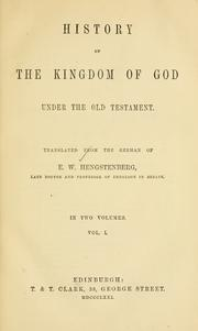 Cover of: History of the kingdom of God under the Old Testament