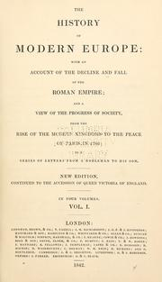 Cover of: history of modern Europe | Russell, William