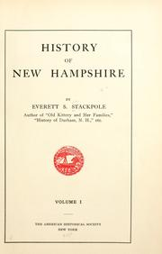 History of New Hampshire by Everett Schermerhorn Stackpole