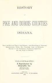 Cover of: History of Pike and Dubois counties, Indiana |