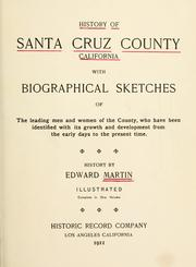 Cover of: History of Santa Cruz County, California | Edward Martin