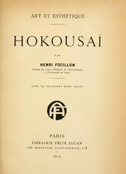 Cover of: Hokousai