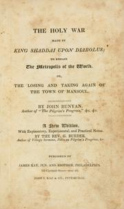 Cover of: The holy war, made by King Shaddai upon Diabolus