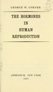 Cover of: The hormones in human reproduction