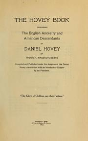 Cover of: The Hovey book | Daniel Hovey Association.