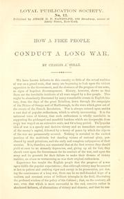 Cover of: How a free people conduct a long war