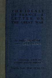Cover of: The ideals of France