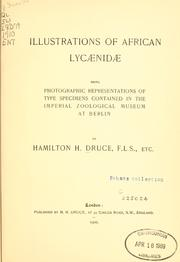Cover of: Illustrations of African Lycaenidae | Hamilton H. Druce