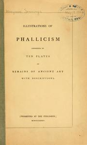 Cover of: Illustrations of phallicism |