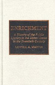 Cover of: Enrichment | Lowell Arthur Martin