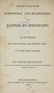 Cover of: Infant baptism scriptural and reasonable
