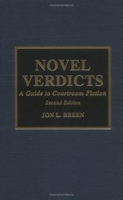 Cover of: Novel verdicts