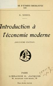 Cover of: Introduction à l'économie moderne
