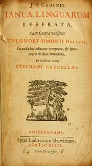 Cover of: J.A. Comenii Ianua linguarum reserata