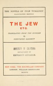 Cover of: The Jew, etc.