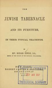 Cover of: The Jewish tabernacle and its furniture