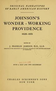Cover of: Johnson's Wonder-working providence, 1628-1651 by Edward Johnson