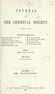 Cover of: Journal. | Chemical Society, London
