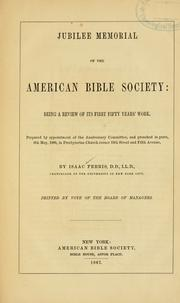 Cover of: Jubilee memorial of the American Bible Society | Isaac Ferris