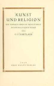 Cover of: Kunst und Religion