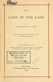 Cover of: The Lady of the lake. | Sir Walter Scott
