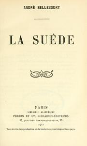 Cover of: La Suède