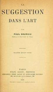 Cover of: La suggestion dans l'art