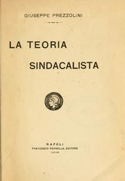 Cover of: La teoria sindacalista