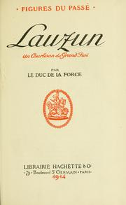 Cover of: Lauzun