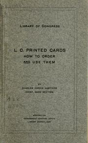 L.C. printed cards by Library of Congress. Card Division.