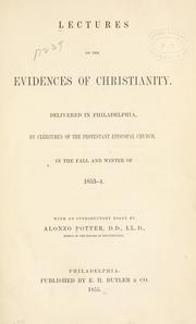 Cover of: Lectures on the evidences of Christianity |