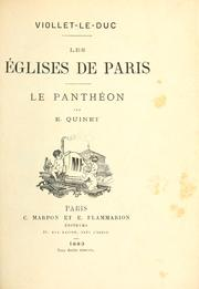 Cover of: Les églises de Paris: le Panthéon