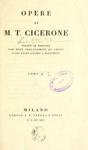 Cover of: Lettere di M.T. Cicerone disposte secondo l'ordine de' tempi by Cicero
