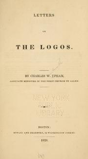 Cover of: Letters on the Logos