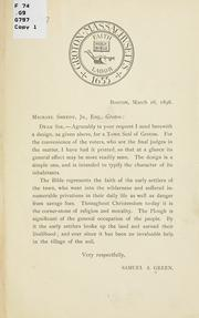 Cover of: Letter to Michael Sheedy, jr., esq