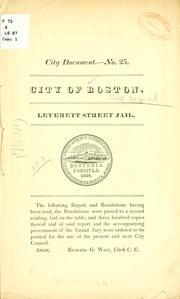 Cover of: Leverett street jail