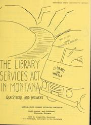 Cover of: The Library Services Act in Montana |