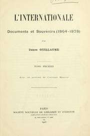 Cover of: L' Internationale by James Guillaume